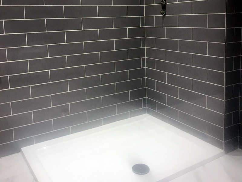 Shower being fitted