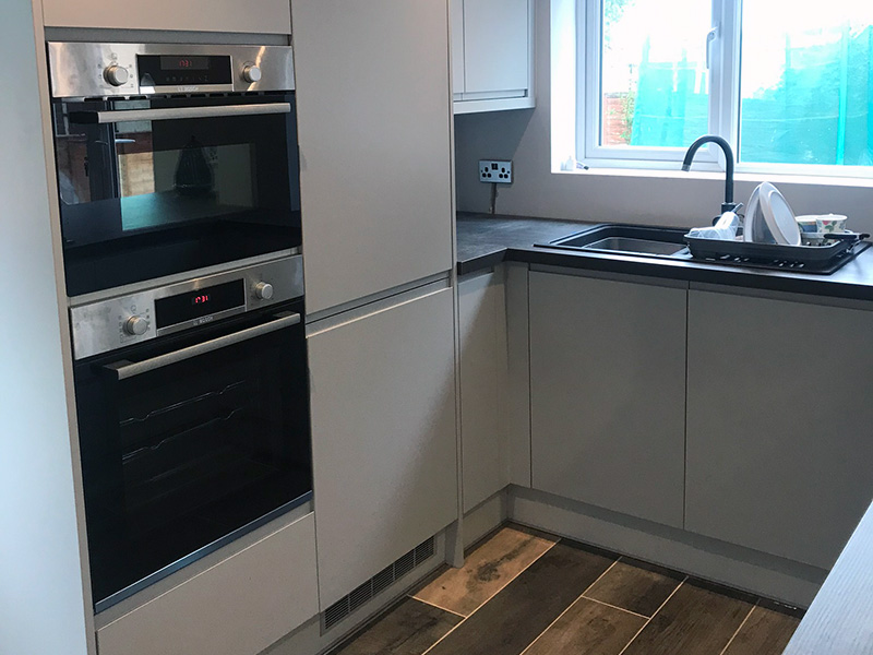 Kitchen build cooker and sink