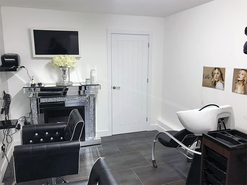 Showing finished salon conversion