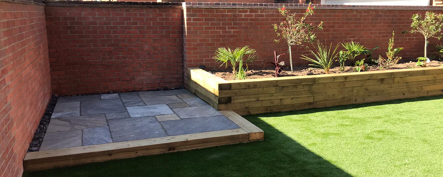 Garden design, landscaping and build