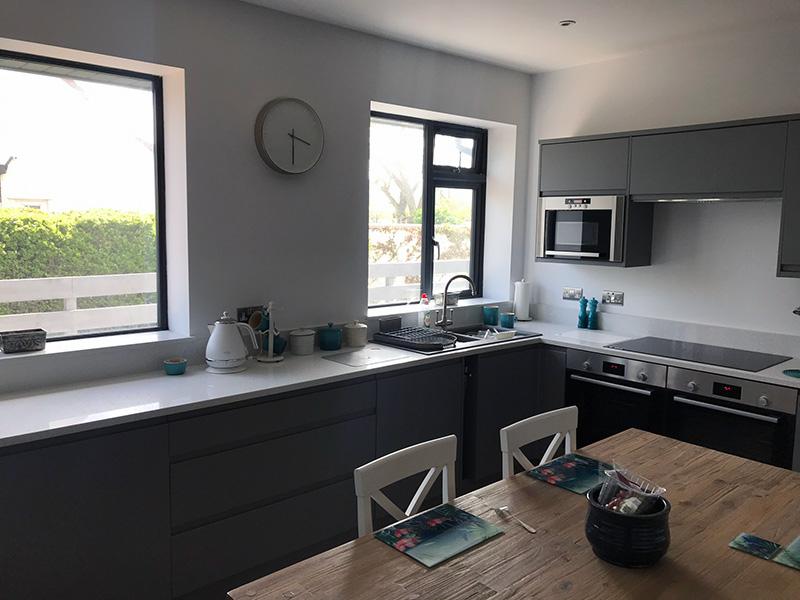 Finished kitchen area